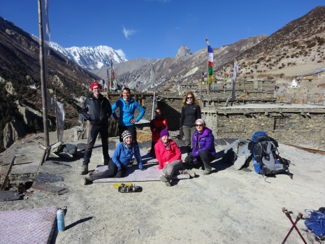 Our little gang at the rooftop in Karakash