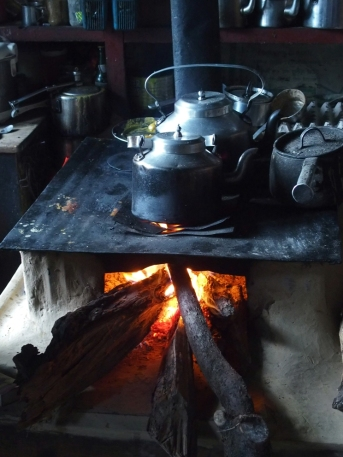 Traditional stove in Chame
