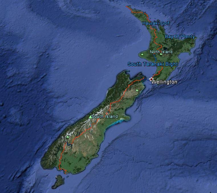TeAraroa Google Earth2