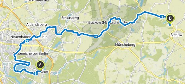 Karte Mammutmarsch